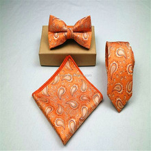 Fly butterfly bowtie and necktie and hanky set to match suits