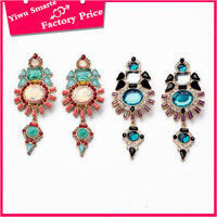 Low cost latest antique indian jewellery wholesale 2016 trends big jhumka hanging stone earrings