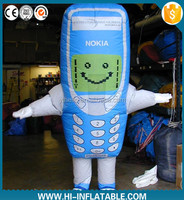 Best Selling Inflatable Walking Cartoon,Phone Inflatable Moving Cartoon,cell phone inflatable cartoon