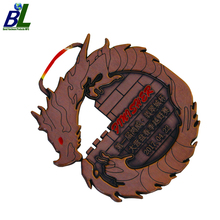 Chinese Style Engraved Antique Copper Dragon for Awards and Trophies