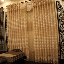 jacquard voile germany sheer black white striped window curtains