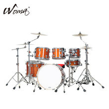 2017 New Design 7PCS Lacquer Drum Set With High Quality Parts