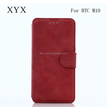 Classical Wholesale Wallet Flip Cover Leather TPU Mobile Phone Case for htc one m10