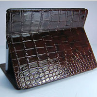 CROCO exquisite leather stand case for ipad 4 custom leather tablet case