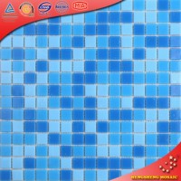 LS55 Crystal ceramic tiles swimming pool tiles for sale broken glass mosaic tile