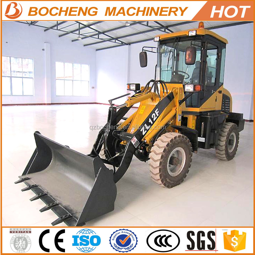 Hot sale multifunction 1. 2 ton china mini wheel loader ZL12