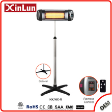 New Style Outdoor Standing 1500W carbon infrared heater With Remote Control