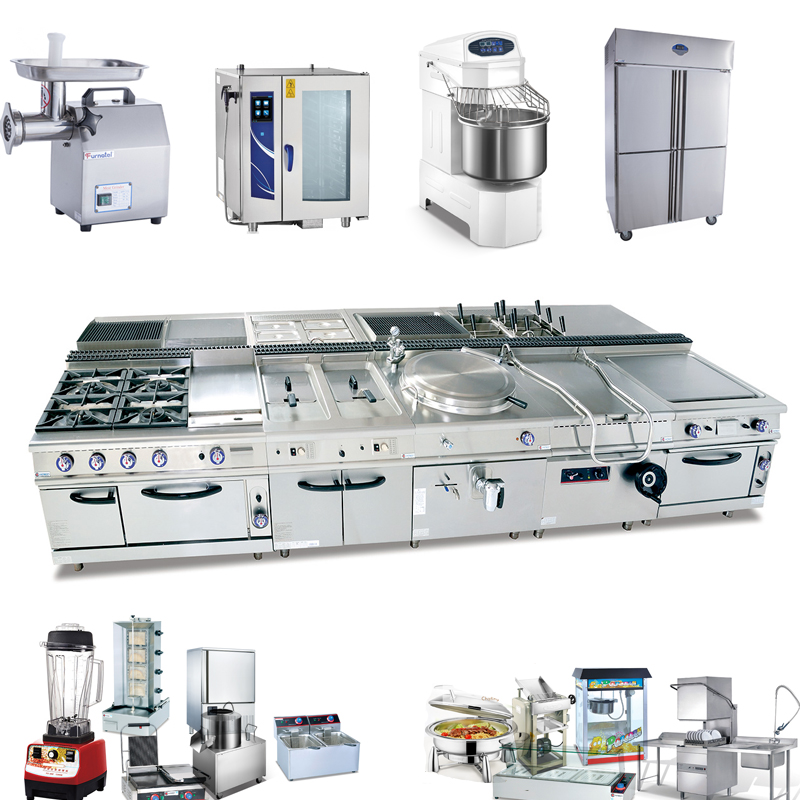 Top Of Commercial Chinese Stainless Steel Automatic/Hotel Restaurant Kitchen Equipment Price List(CE)
