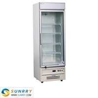 Commercial lass door lpg gas refrigerator for sale for chocolate, drink, fruit and vegetable