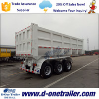 Double Wheel 40 Cubic Meter Tipper Trailer For Contruction Engineering