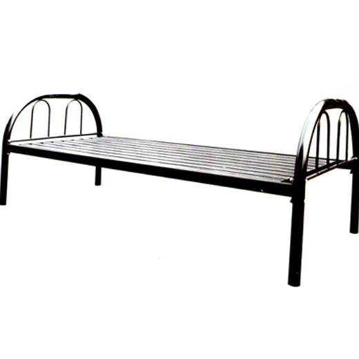 Hot selling cheap metal single <strong>bed</strong> / Iron steel single <strong>bed</strong> / student single <strong>bed</strong> /