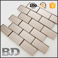 New interior decoration thickness 8 mm glass mosaic carpet tile for building materials