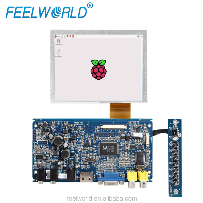 FEELWORLD 5 inch 4 wire resistive monitor raspberry pi 3 lcd touch screen