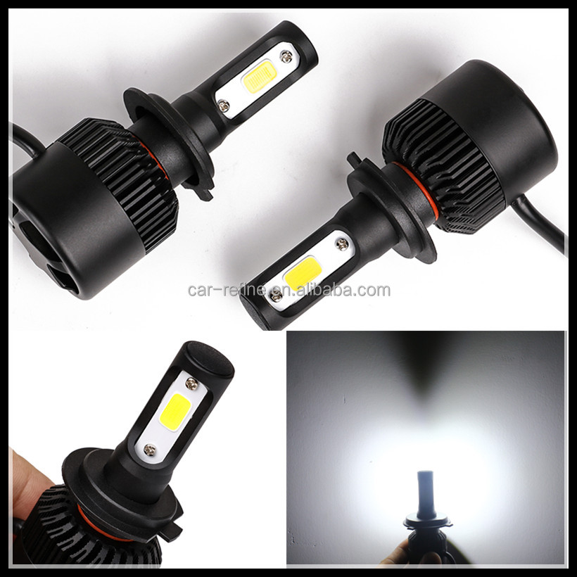auto car accessories motorcycle DC 12V H7 led headlight low power high Lumen 72W 8000lm H7 cob led headlight