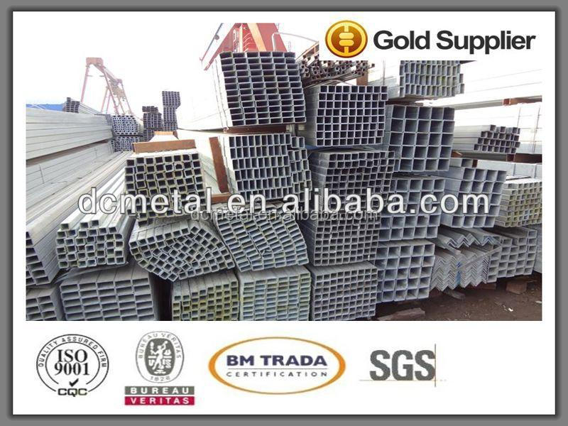 China manufacture pre galvanized square steel pipes/tubes/tubing/piping