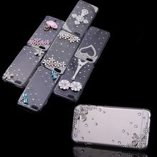 Big Sales Luxury Clear Crystal Bling Rhinestone Diamond Silver Flower Case Hard Back Cover Protective Shell for Apple iPhone 6