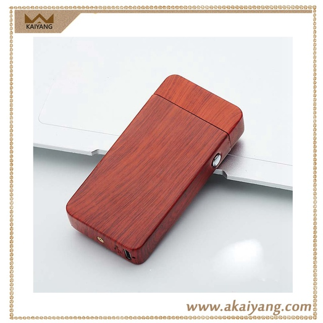 Flameless Camouflage Wooden Double Arc Usb Lighter Plasma
