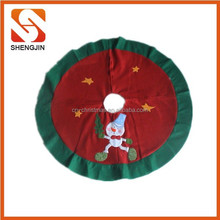 SJ-6490 2015 xmas handmade decorations popular nonwoven Christmas Tree Skirt