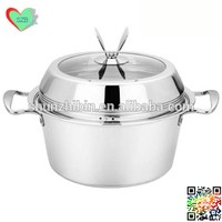 2 layer Stainless steel food steamer pot with rack sauce pot cooking pot