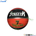 streetk brand wholesale top quality basketball balls oem rubber basketball ball