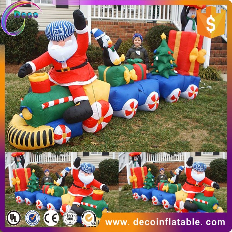Gemmy christmas inflatables, decorative gemmy inflatable santa claus in airplane
