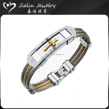 Free sample design stainless steel christian bracelets