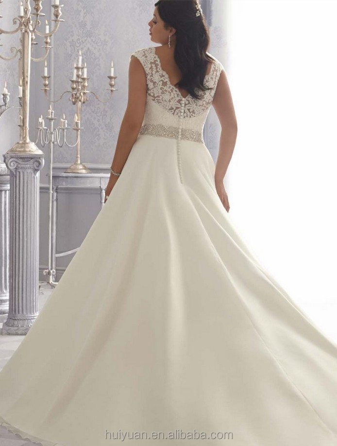 satin strap lace gowns for big women