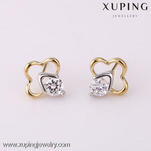 25061 Lastest design multicolor heavy bridal earrings