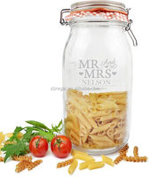 Personalised Mr & Mrs Large Glass Kilner Jar - Wedding New Home