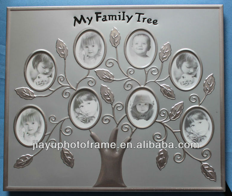 Silver Color Metal Family Tree Photo Frame / Family Photo Frames / Family Photo Collage Frames