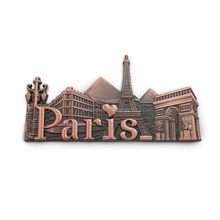 Customized souvenir PARIS France Italy tourist metal souvenir fridge magnet