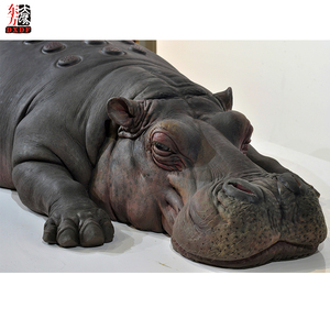 Custom Silicone Life Size Animal Hippo Statue