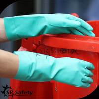 SRSAFETY 15mil long green nitrile protective glove