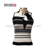Striped Silk Knitted Women Vest