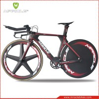 MIRACLE MC095 carbon TT bikes,2016 new design triathlon bicycle fit disc wheels,new time trial bikes carbon frame 49 52 54 56cm