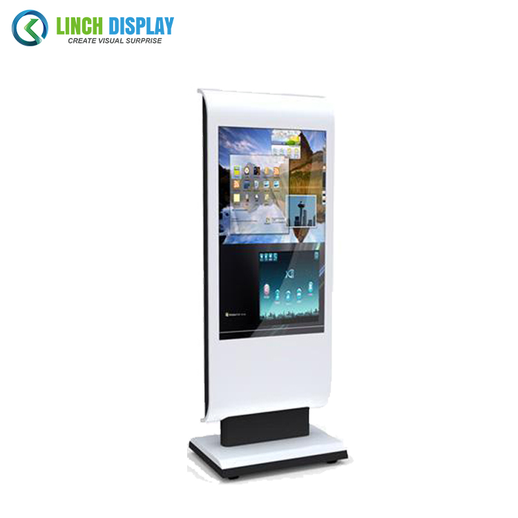 Minus 40 to 60 degrees compliant IP65 design for outdoor application LCD advertising totem