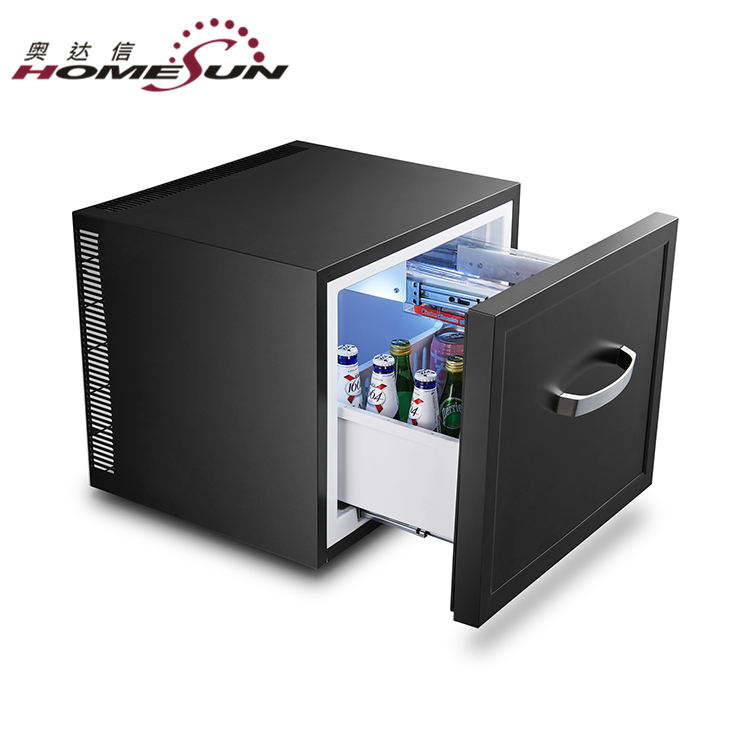 BCH-45 Factory Wholesale mini bar fridge 45 litre with drawer, mini bar electric <strong>refrigerator</strong> for hotel room