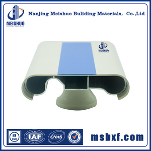 wall mounted PVC and aluminum corridor stair handrail metal