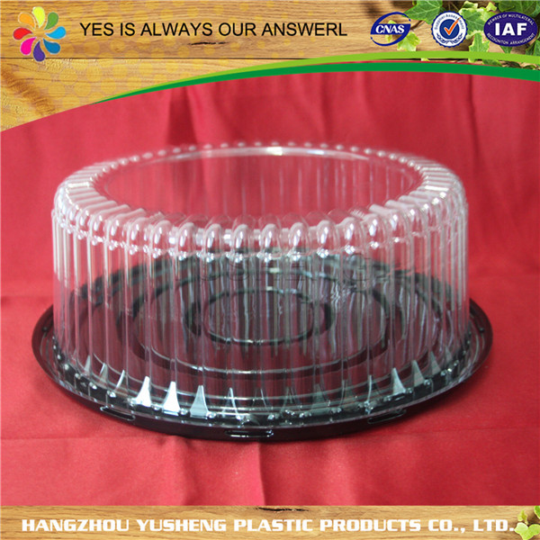Cheap hot sale top quality clear plastic cake box packaging,cake box