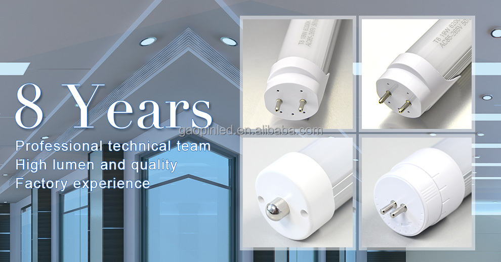 5 years warranty internal driver 150lm/w T6 1200mm 4ft 18w led tube light