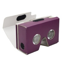 Well assembled printing google cardboard 2.0 virtual reality assembled 3d glasses for 3D Apps