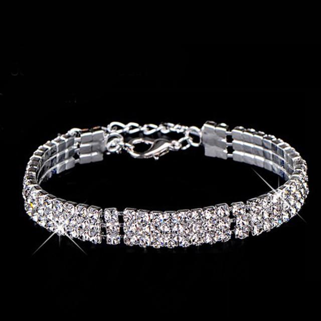 Hot sell Multi-chain rhinestone crystal bracelet for women