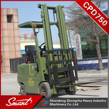CPD750 AC / DC motor battery operated electric forklift