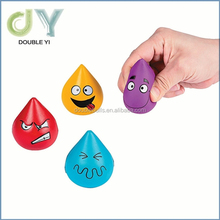 Custom 4 Tear Shaped Stress Relaxable Balls Autism Occupational Therapy Special Needs PU Foam Water Drop Squeeze Ball