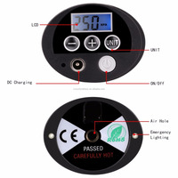 High quality 12V Portable Digital Car Auto Tyre Tire Inflator Electronic Air Compressor with light
