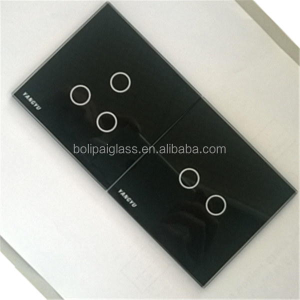 bevel edge silkscreen color switch glass panel light switch plates