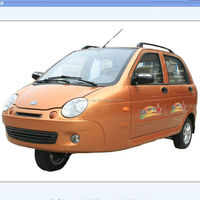 2015 top sellign 3 wheels 5seater electric fuel type car