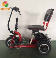 Cheap foldable and mobility 3 wheel electric scooter portable for immobilized old man and disabled