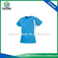 Summer Dry Fit Spandex Short Sleeve Lady Sport T Shirts
