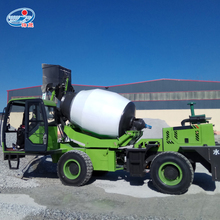 3.5m3 self-loading mobile concrete mixer with stable performance
